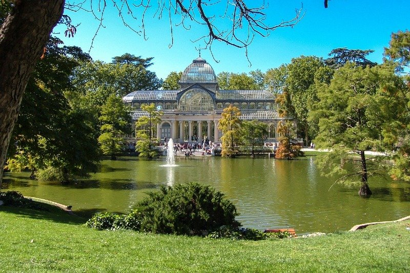 The crystal palace at the Retiro park in Madrid