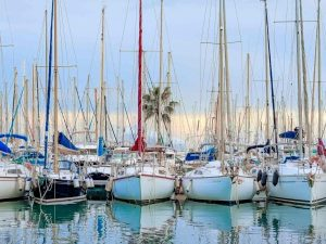 Sailing boats in Mallorca harbour