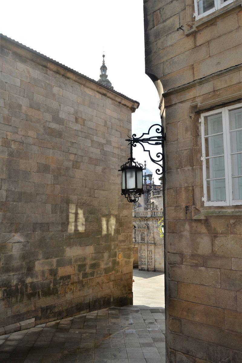 Street in old quarter of Santiago de Compostela