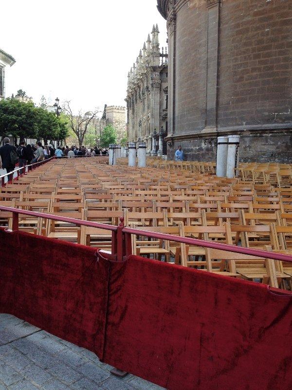 Easter preparation in Seville