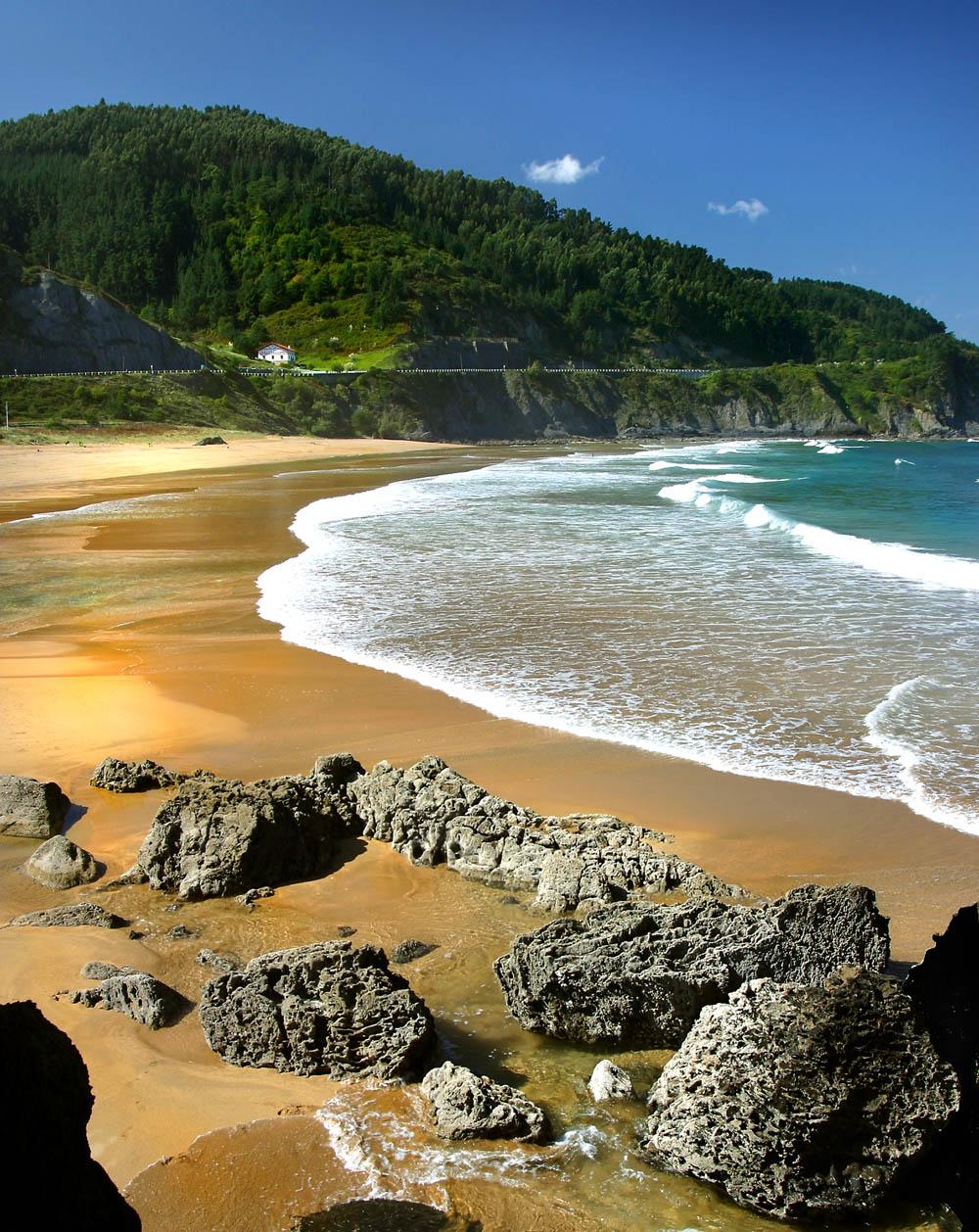 PLAYA DE LAGA-Golden sand and a surfers paradise