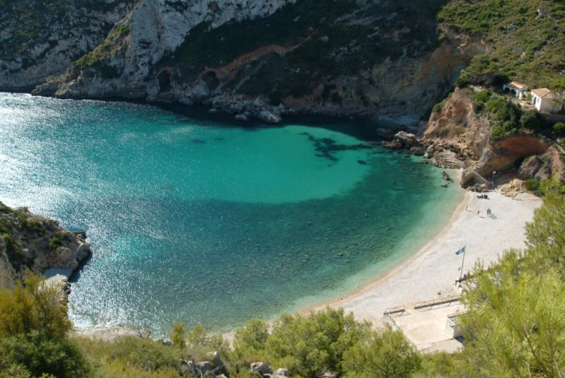 Cala Granadella One Of The Most Spectacular Beaches Of The Mediterranean Coast Makespain