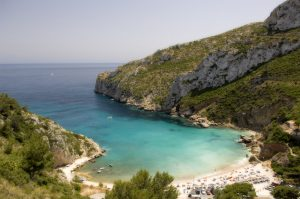 CALA GRANADELLA-Beautiful cala. Better to get there early to avoid too many people