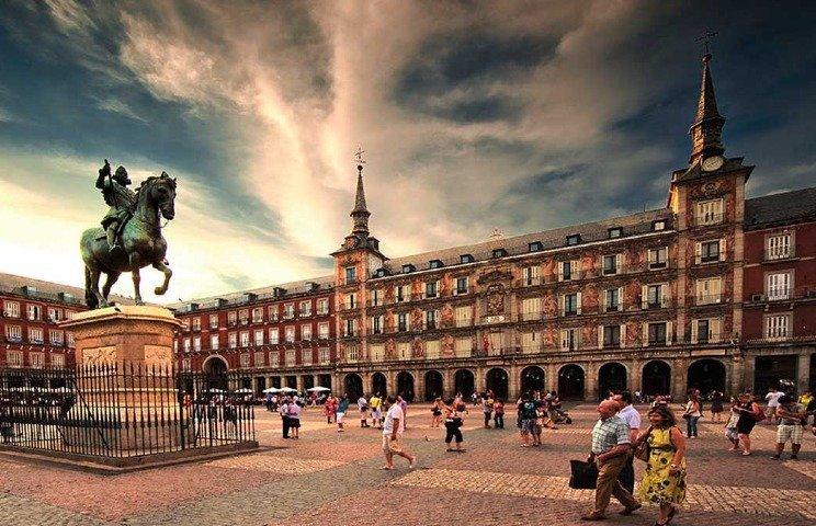 Plaza Mayor de Madrid in Madrid