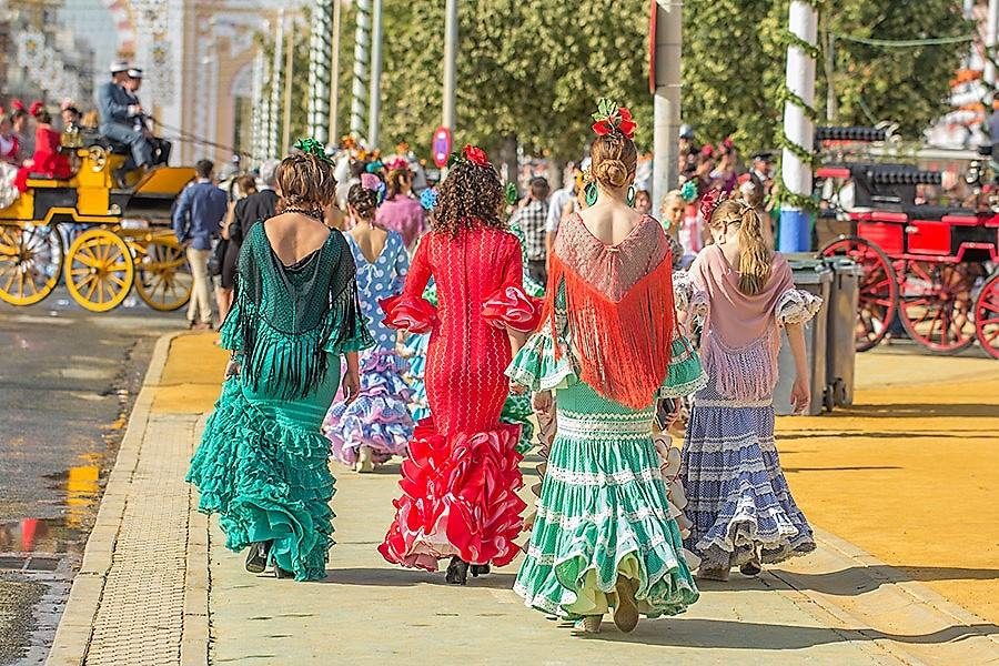 Seville fair flamenco dresses