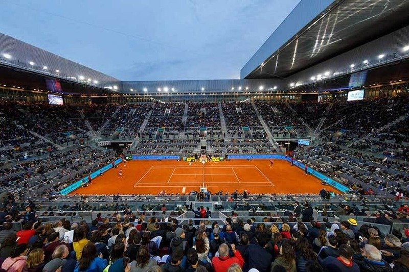 The Caja Magica during the Madrid open in May