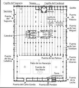 Mosque of Cordoba plan
