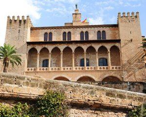 Façade Almudaina palace in Mallorca