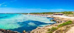 Es Trenc-2 kilometers of white sand and caribbean style waters. One of Mallorca´s best known beaches