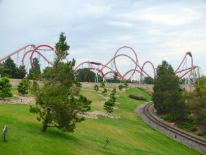 Dragon Khan roller coaster at Port Aventura