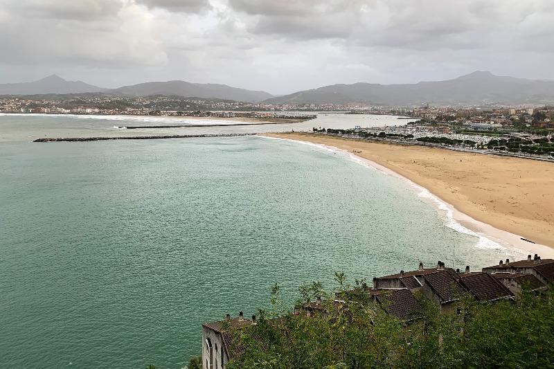 Beach in Hondarribia