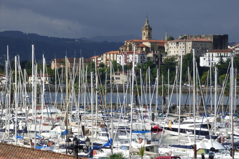 Views of Hondarribia from Hendaye port