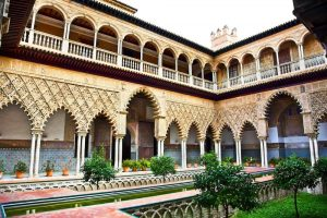 Courtyard in Casa Pilatos seville