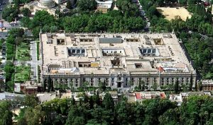 Fabrica de tabacos Seville from the sky