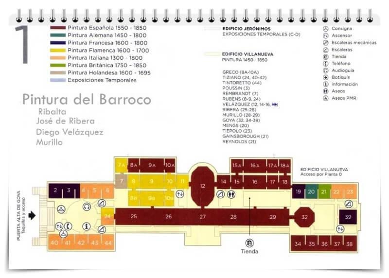 Prado Museum plan