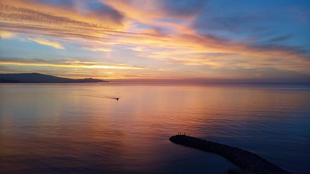 Playa la herradura sunset