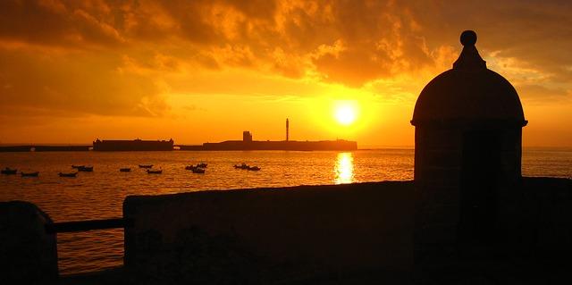 Playa La Caleta sunset