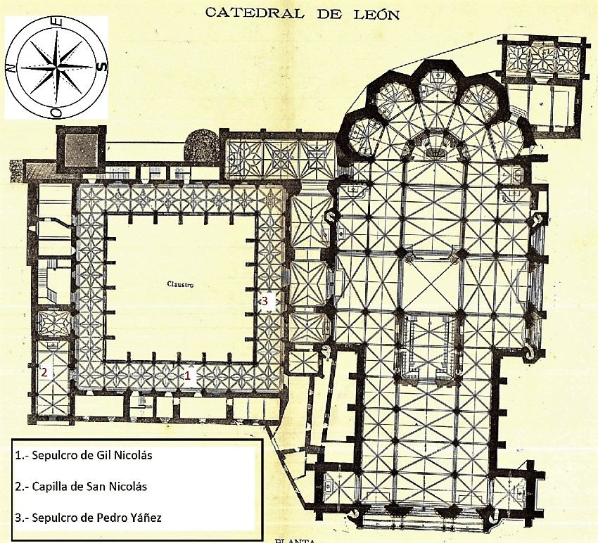 Plan of the Cathedral in Leon Spain
