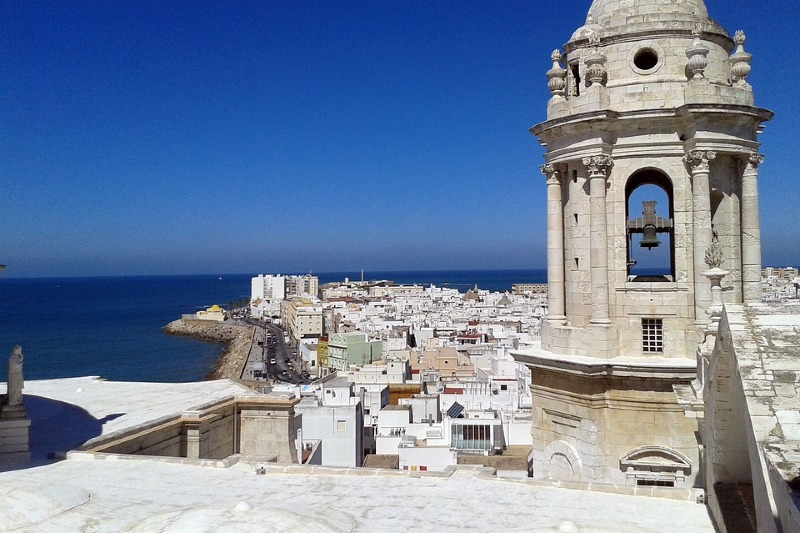 Views from the tower of Cadiz cathedral