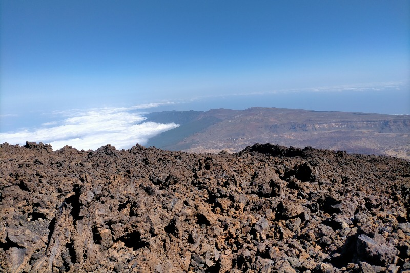 Clouds below the Teide peak
