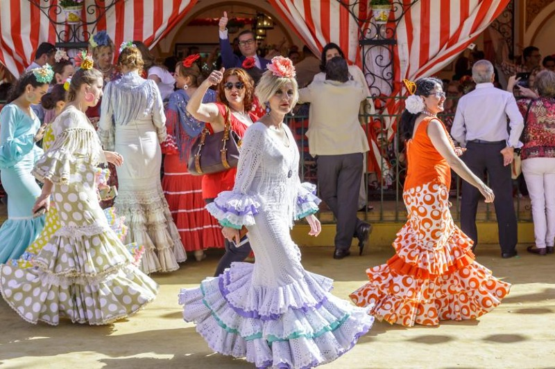 Flamenco and sevillanas dresses