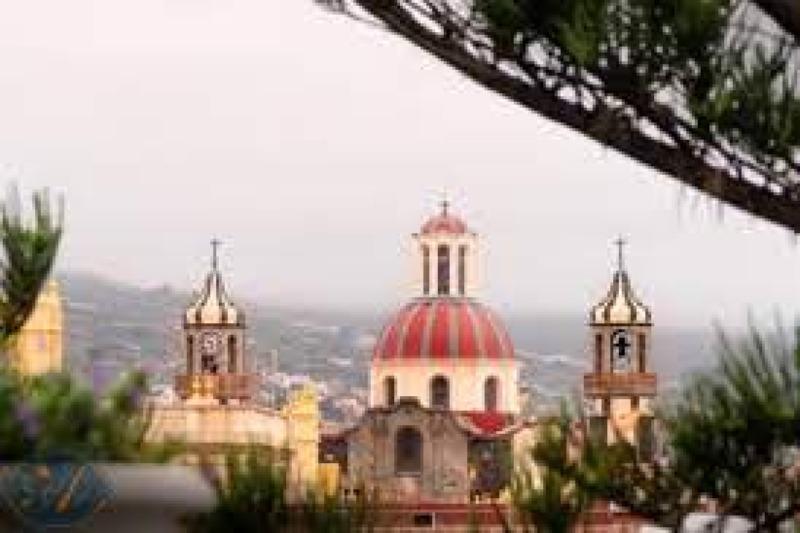 Dome and towers la Concepcion in la Orotava