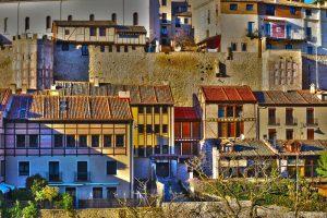 Houses near the city walls of segovia