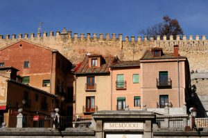 Walls of segovia, Spain