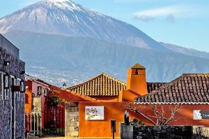 Views of teide from the Casa del vino in Tacoronte