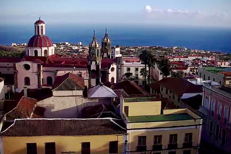 Views of the ocean from la Orotava