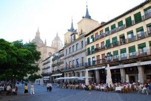 City hall in the Plaza Mayor de Segovia