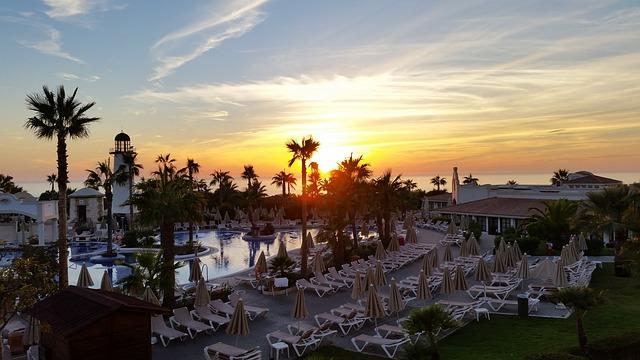 sunset in Jerez de la Frontera