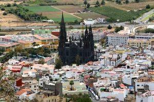 The church in Arucas, Gran Canaria