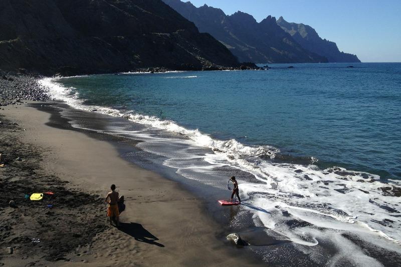 Beach in northern Tenerife in Anaga