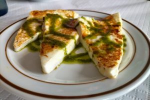 Goat cheese and green mojo in Tenerife