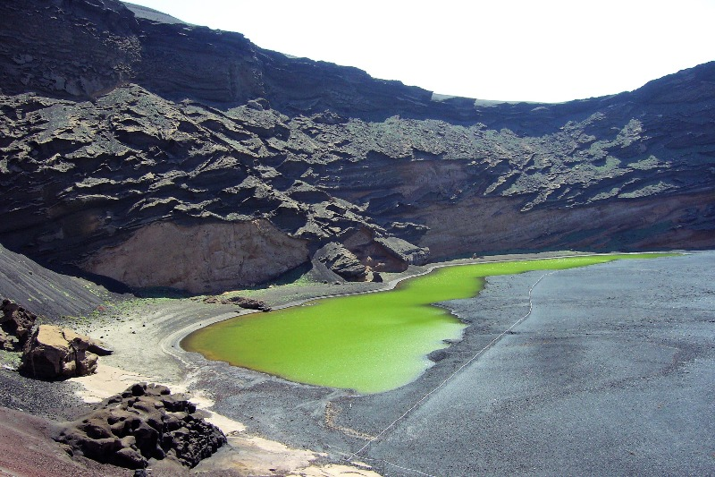 The green lagoon in Lanzarote