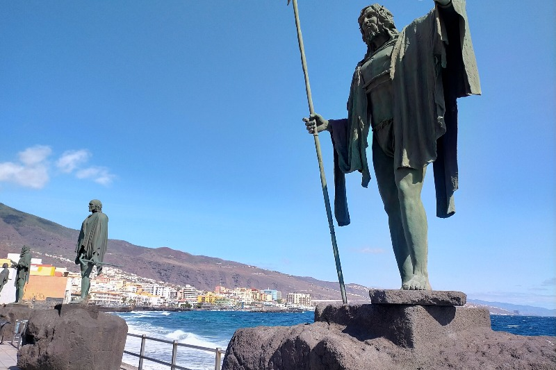 Statue of Guanche kings in Candelaria