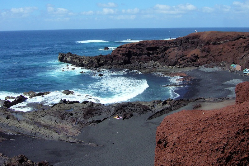 Beach in southern Lanzarote
