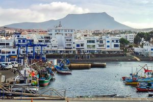 Harbour in Puerto de las Nieves in Gran Canaria