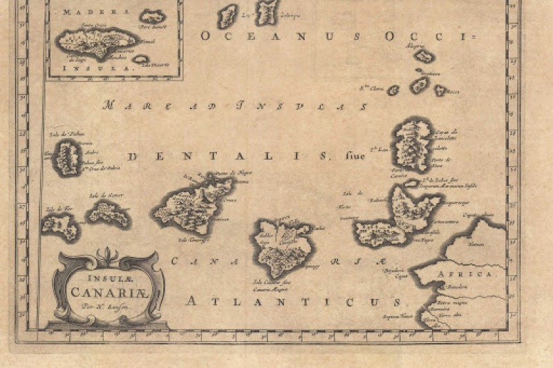 old Canary islands map