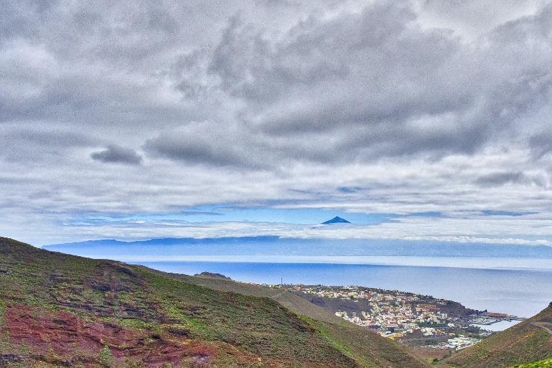 Views of El Teide from La Gomera