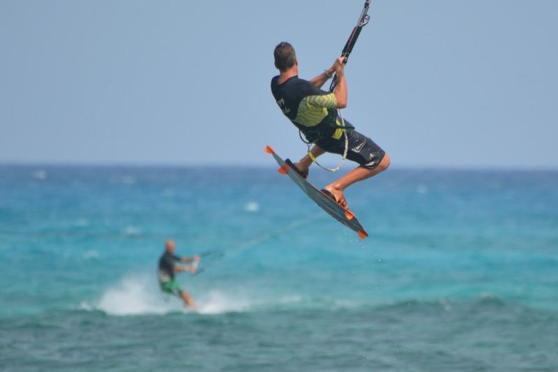 Kitesurfer in Fuertenventura