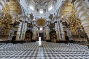 Interior of San Luis church in Seville