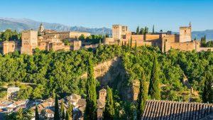 El mirador de San Nicolas in Granada Spain