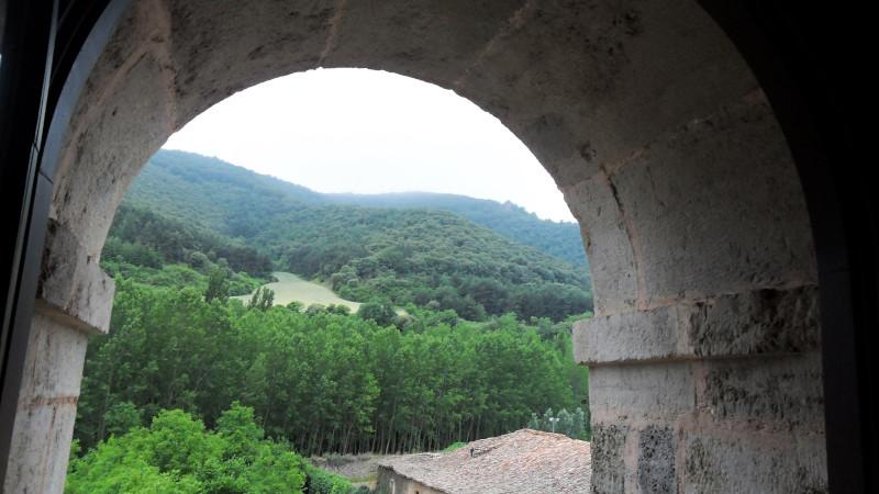 Landscape of San Millan from the Hospederia